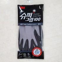 3M슈퍼그립100 코팅장갑 회색